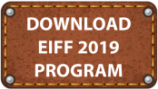 Image of leather button to tap to download EIFF 2019 Program